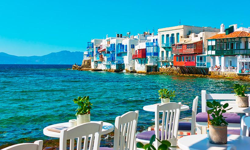 Mykonos, Santorini y Folegandros, tres islas griegas en blanco y azul