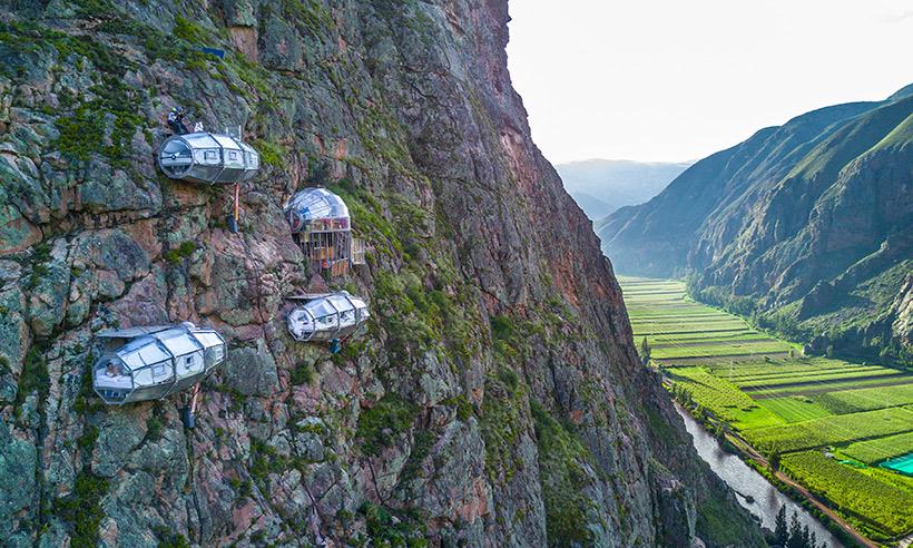 ¿Dormirías suspendido a 400 metros de altura en el Valle de los Incas?
