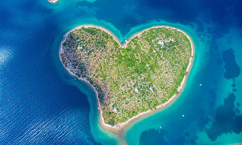 Paisajes con forma de corazón, paisajes para enamorarse