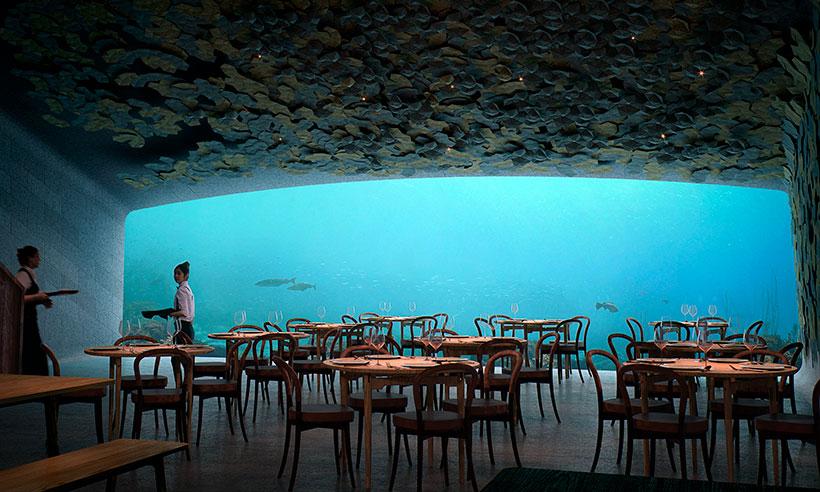 Under, el restaurante de Noruega sumergido en el mar