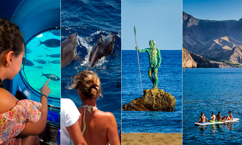 Viajar en submarino, hacer un guaguatour.... o cómo pasárselo bomba en Gran Canaria