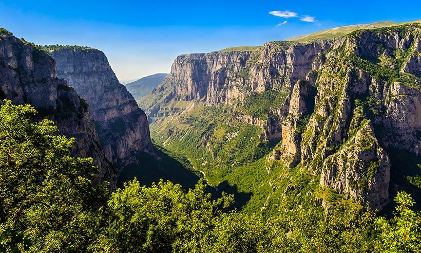 El desfiladero más profundo del mundo está en Grecia