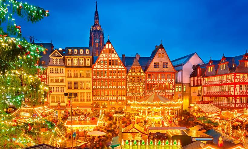 Frankfurt, 48 horas en el Manhattan de Alemania iluminado por un millón de luces
