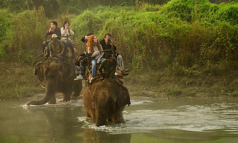 ¿Y un safari en elefante por la selva de Nepal?