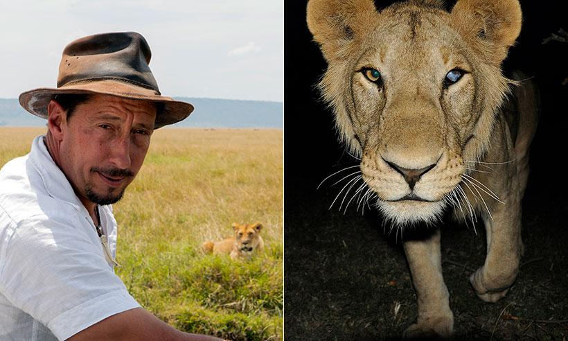 Jorge Alesanco, un español entre leones en Masái Mara