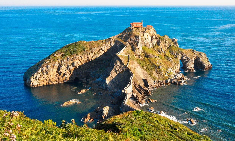 San Juan de Gaztelugatxe, un castillo de roca sobre el mar