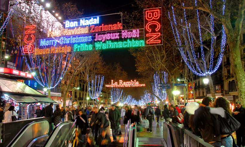 Planes distintos para una Navidad diferente en Barcelona