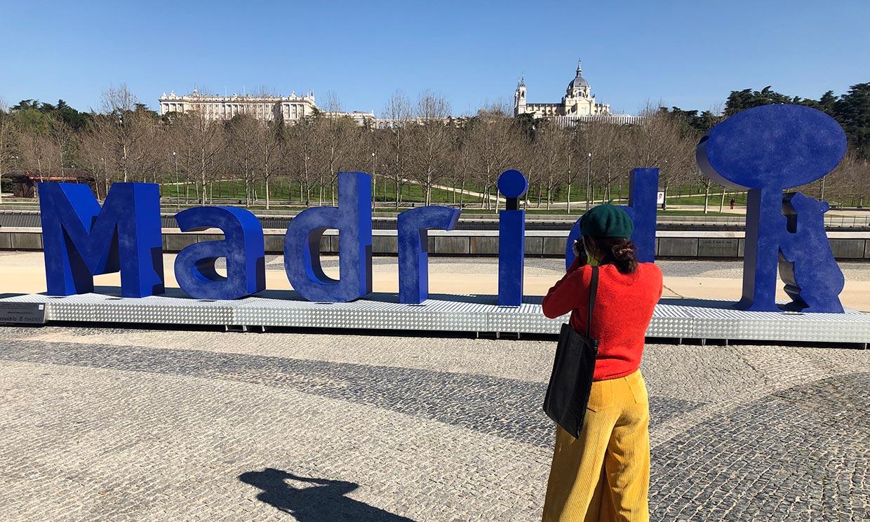 Las letras gigantes de Madrid, el nuevo «place to go» para hacerte la foto
