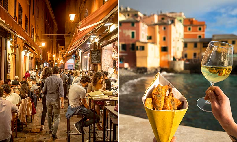 Bolonia y Génova, dos atractivas ciudades italianas para degustar