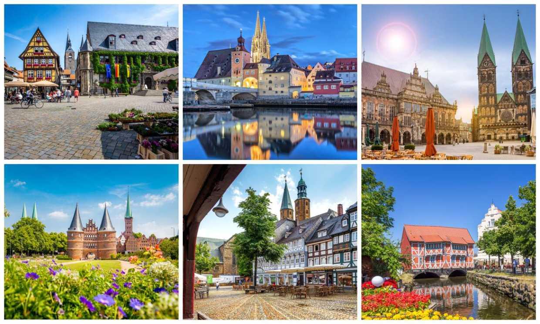 Los cascos históricos más bellos de Alemania, todos Patrimonio Mundial
