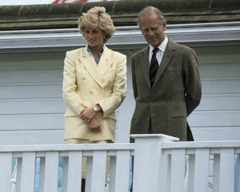 Princess Diana and Prince Philip in Windsor