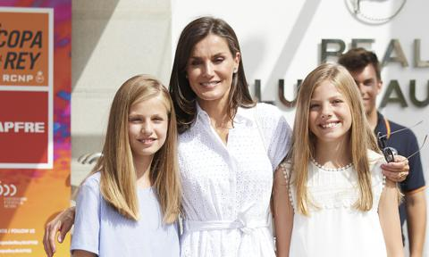 Princess Leonor of Spain, Queen Letizia of Spain and Princess Sofia of Spain