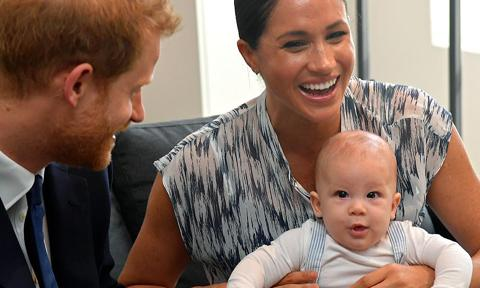 Archie Harrison with Meghan Markle and Prince Harry