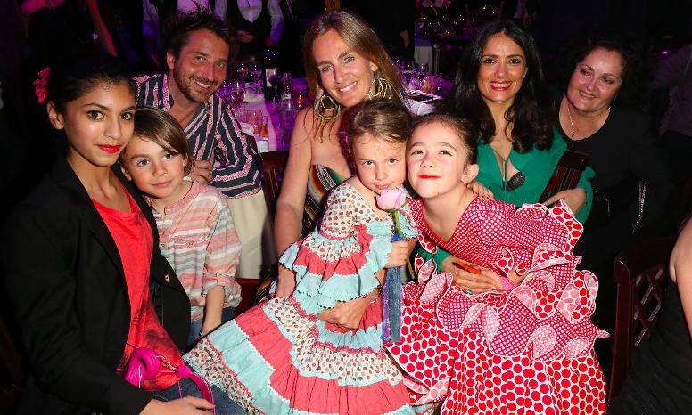 Salma Hayek and daughter charity event