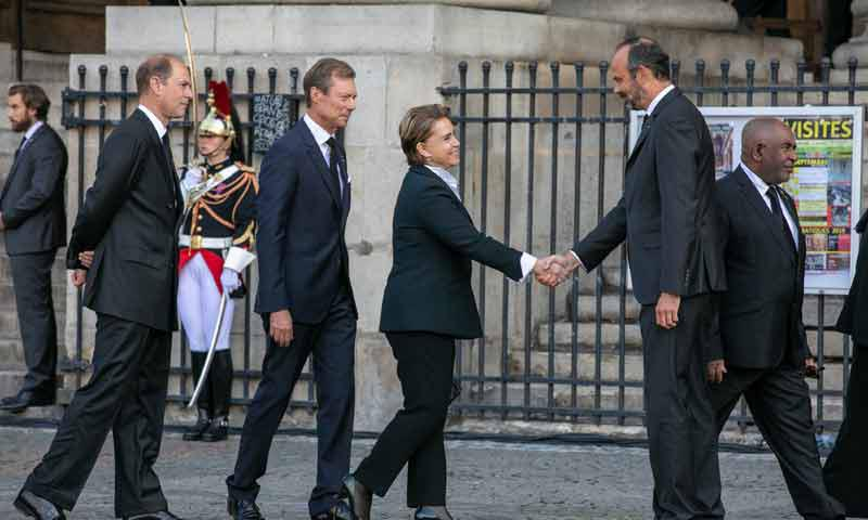 European royals at Jacques Chirac funeral