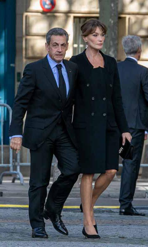 Sarkozy and Carla Bruni attend Chirac's funeral