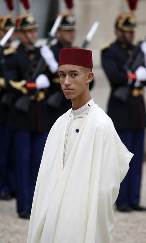 Prince of Morocco Moulay El Hassan at Chirac's funeral