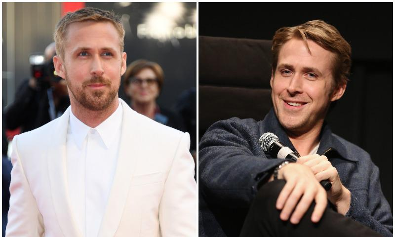 Ryan Gosling has two sides: with a beard and one without!