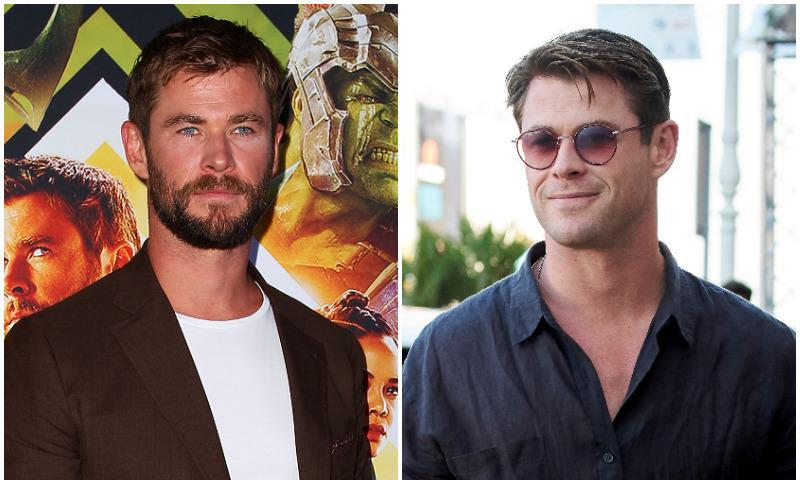 Chris Hemsworth looks younger after shaving