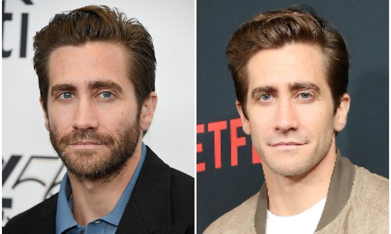 Jake Gyllenhaal looks younger without a beard, though he looks amazing with one