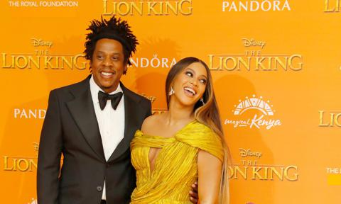 Beyonce and Jay-Z The Lion King premiere