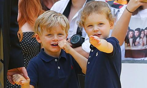 Princess Charlene marks twins Jacques and Gabriella's return to school with personal photo