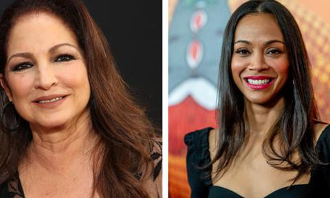 Zoe Saldana and Gloria Estefan