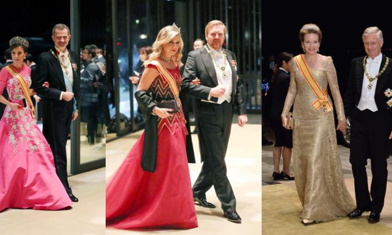 Queen Maxima, Queen Letizia and Queen Mathilde