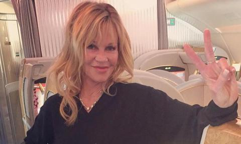 Melanie Griffith posts sexy selfie in lingerie