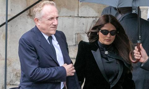 Salma Hayek and more turned up for Peter Lindberg's funeral