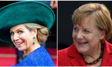 Queen Maxima and Angela Markel