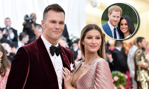 Gisele Bündchen and Tom Brady channel Meghan and Harry with loved-up pic