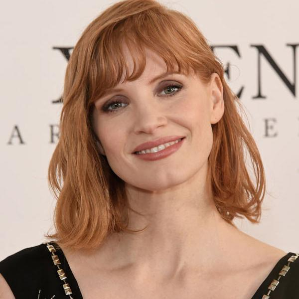 Jessica Chastain with a bob haircut