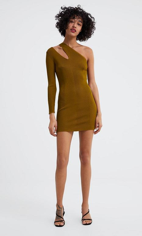 Dress With Cut Outs by Zara
