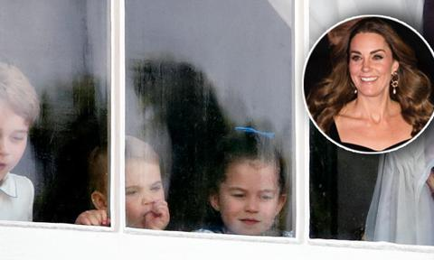 Prince George, Princess Charlotte and Prince Louis wanted to join their mom and dad