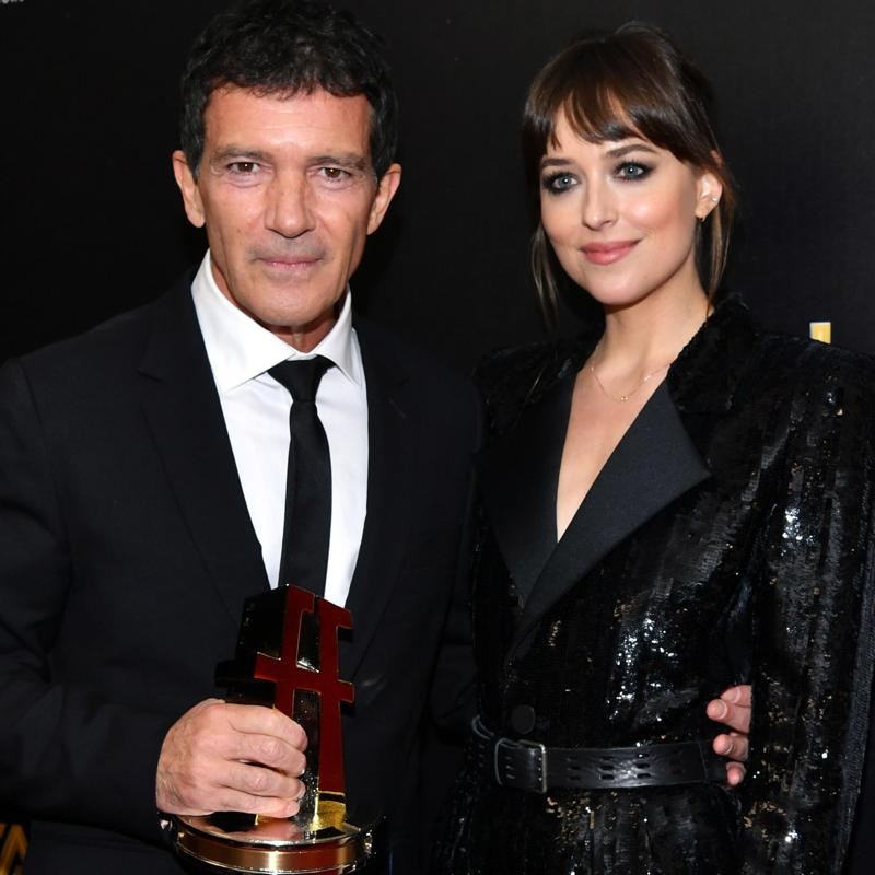 Dakota Johnson paid tribute to her stepfather Antonio Banderas in heartfelt speech