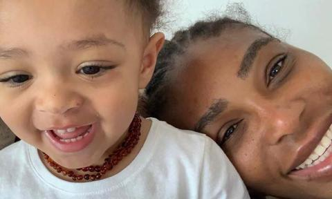 Serena Williams' daughter cute reaction to mom's baking failure