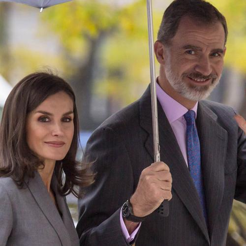 Queen Letizia and King Felipe share rare PDA moment in Madrid
