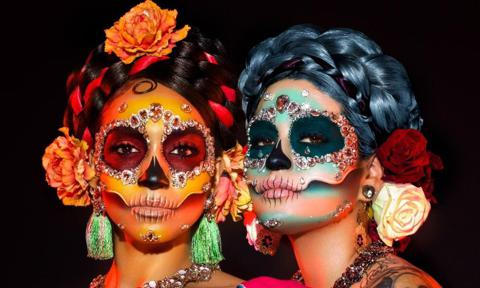 Melt Cosmetics Day of the Dead makeup