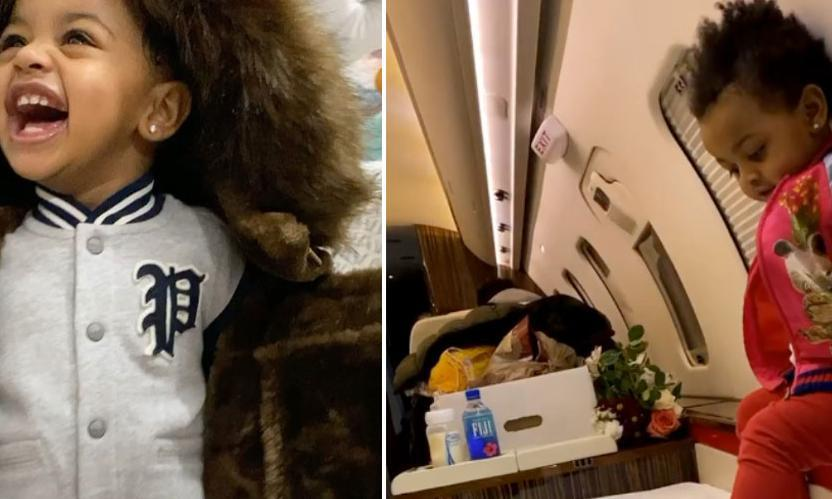 Cardi B S One Year Old Daughter Kulture Travels On Private Jet