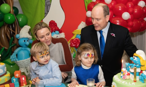 Princess Charlene and Prince Albert twins celebrate birthday at palace