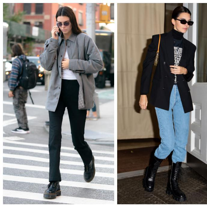Kendall Jenner shows how to wear the combat boot trend in three different ways