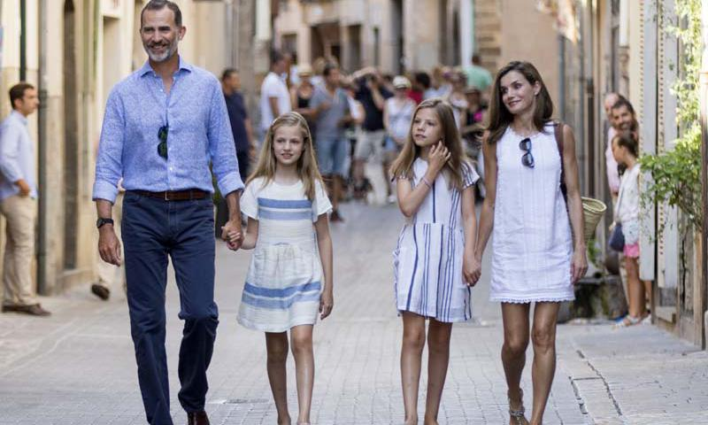 Spanish royals on vacation