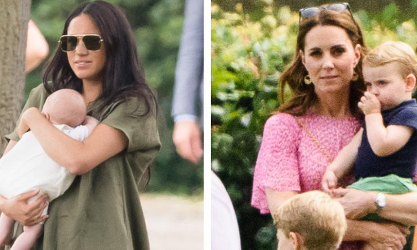 Meghan Markle, Kate Middleton take Archie and Prince Louis to dads' polo match