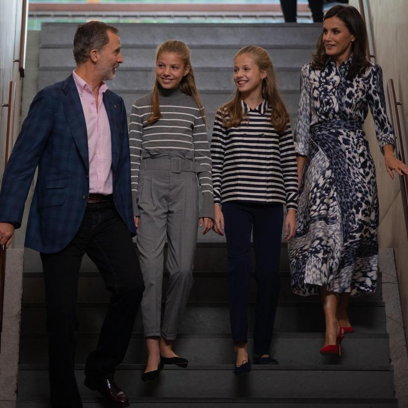 Queen Letizia and King Felipe took their daughters to watch latest Star Wars movie