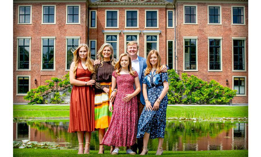 Queen Maxima family photo session