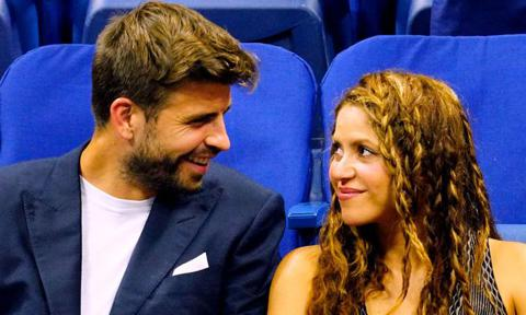 Shakira and Pique show affection at the US Open