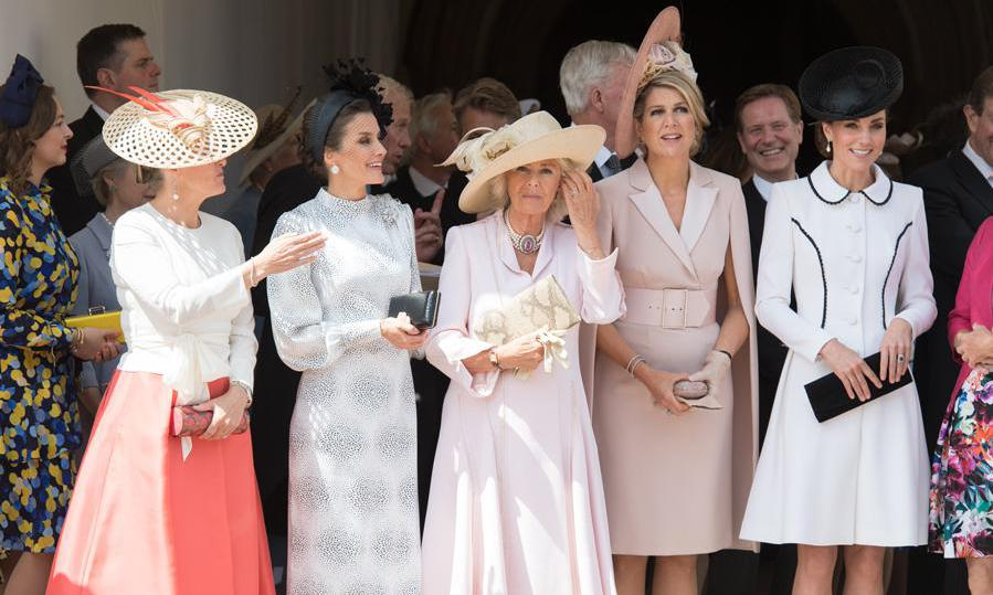 Queen Maxima, Kate Middleton, Queen Letizia, Countess of Wessex, Camila Parker-Bowles