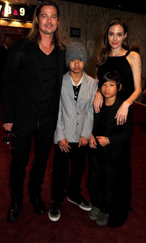 Maddox and Pax accompanied their parents to a premiere
