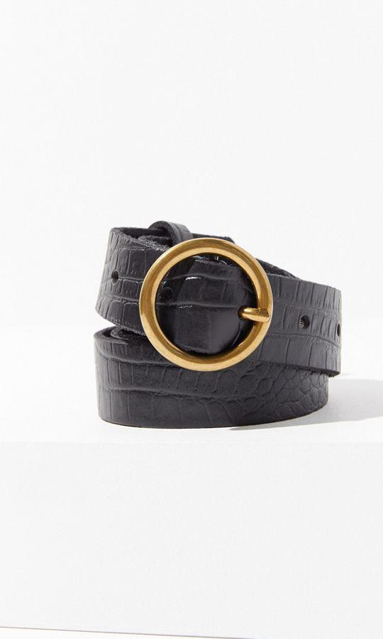 Circle Buckle Belt de Urban Outfitters